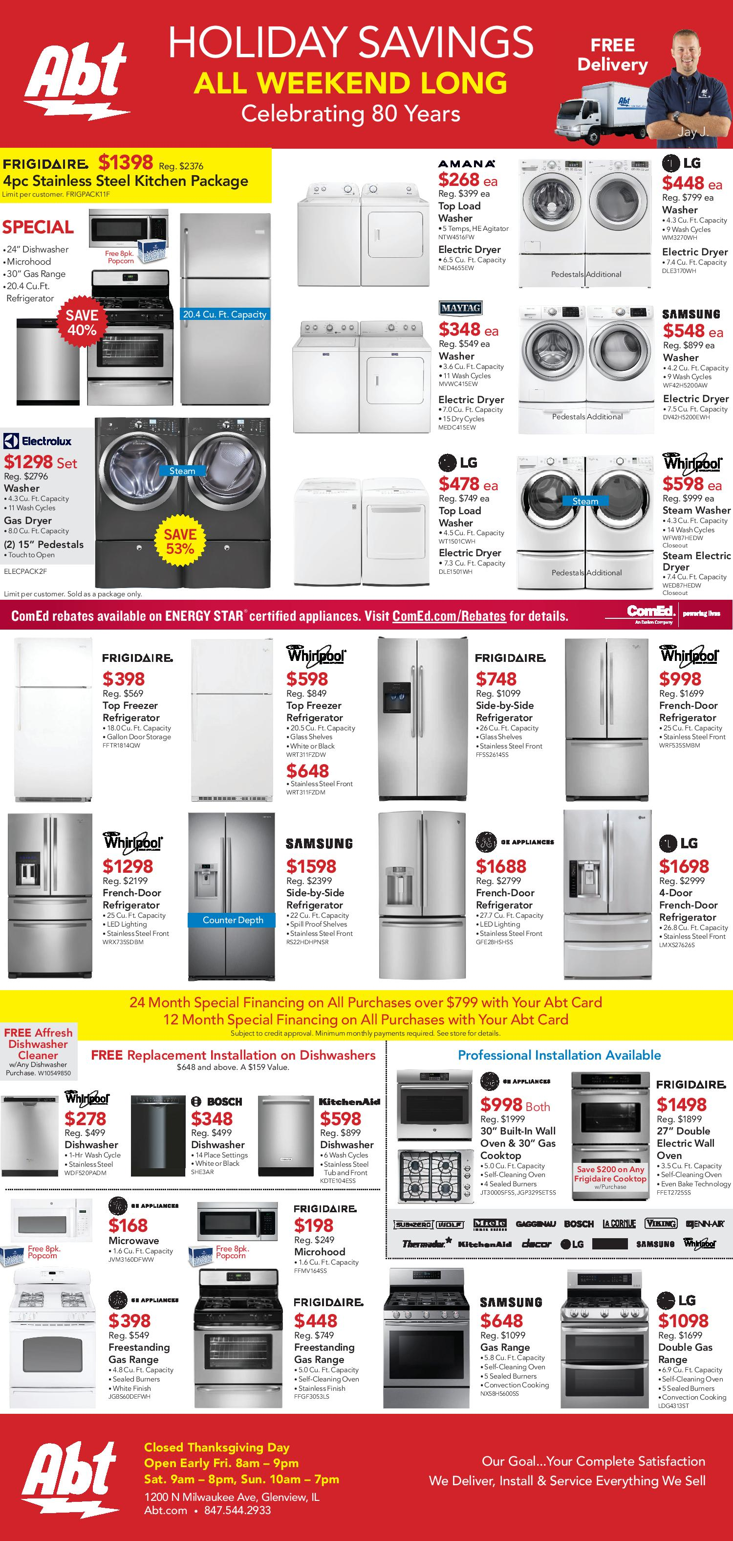 Abt Electronics Black Friday 2016 Ad - Page 1