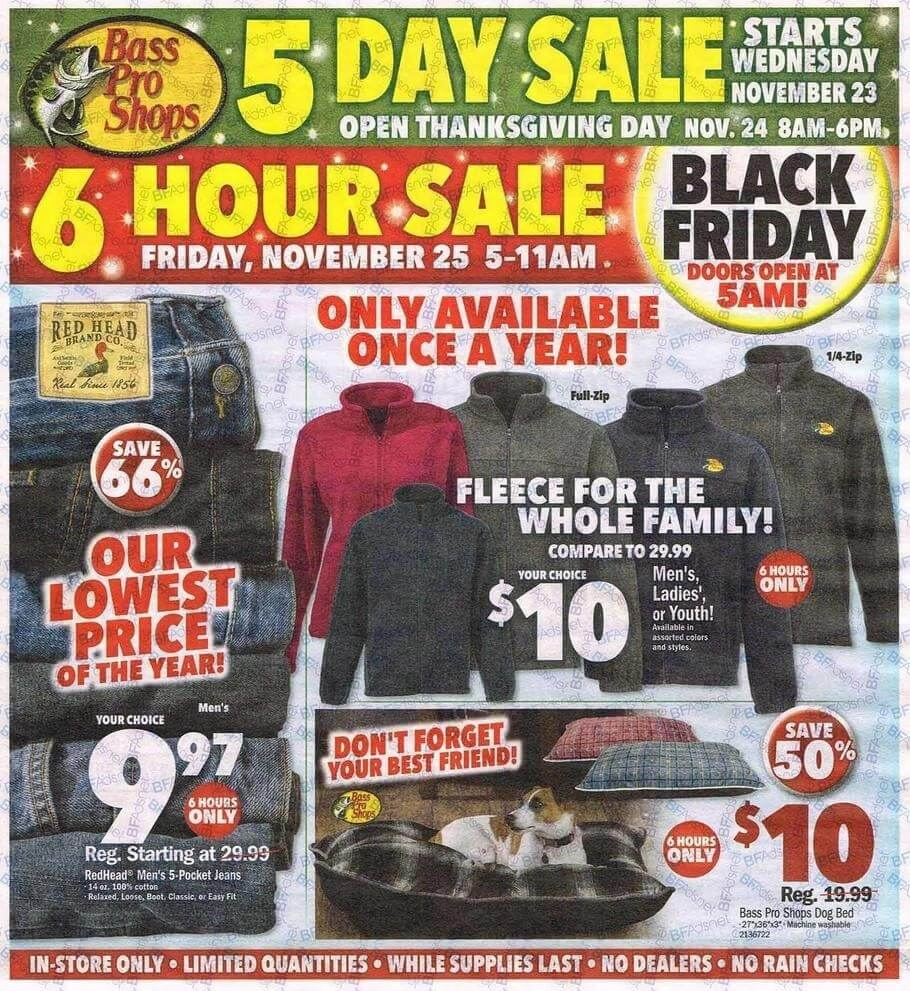 Bass Pro Black Friday 2016 Ad - Page 1