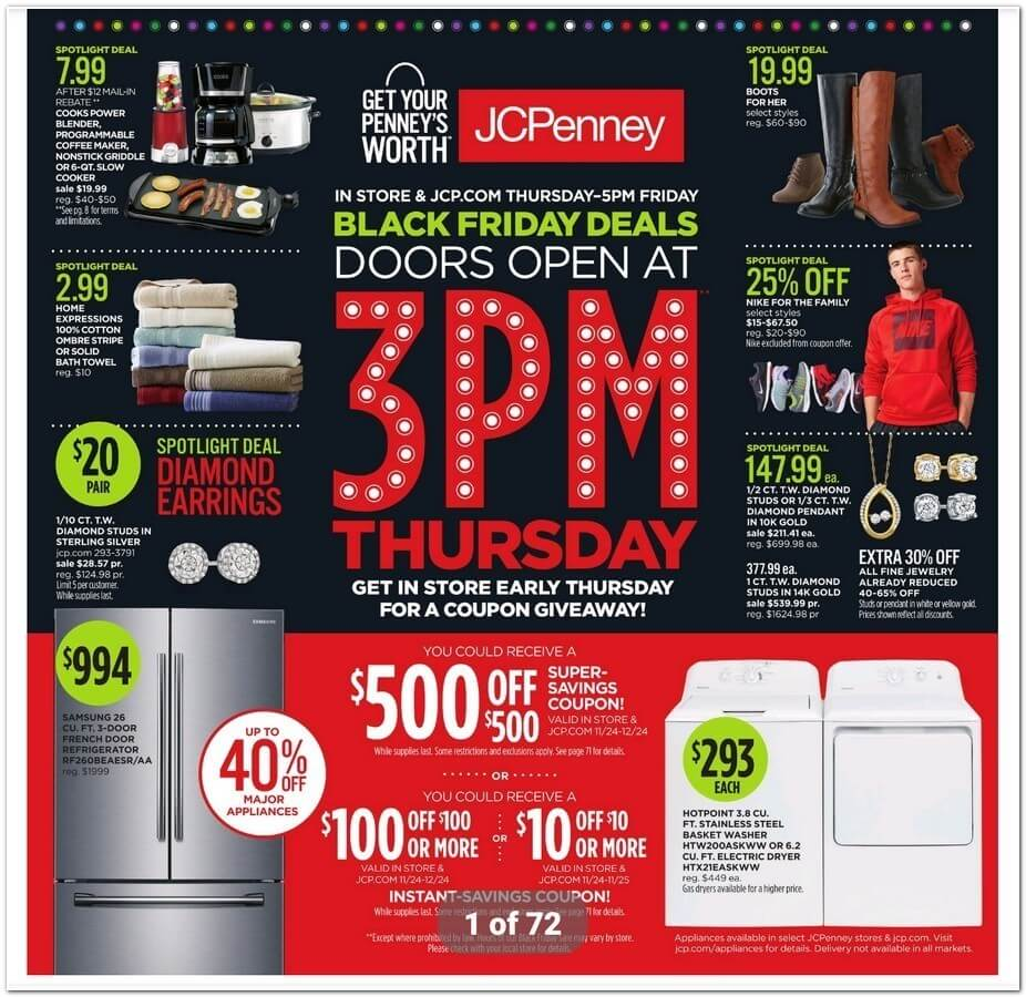 JCPenney Black Friday Ad - Page 1