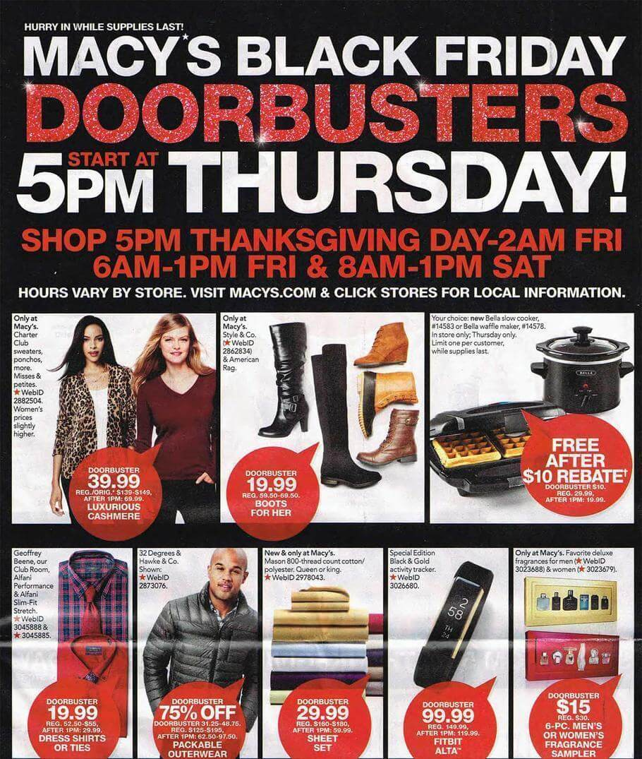 Macy's Black Friday 2016 Ad - Page 1