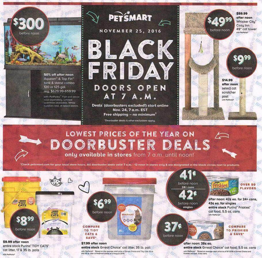 PetSmart Black Friday 2016 Ad - Page 1