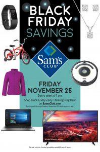 Sam's Club Black Friday 2016 Ad - Page 1