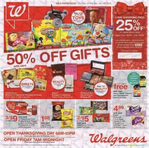 Walgreens Black Friday 2016 Ad - Page 1
